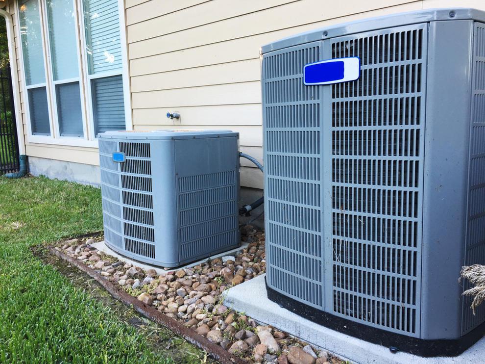 Outdoor HVAC unit in San Diego