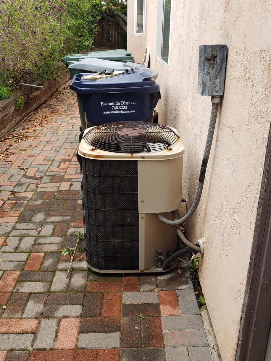 before Atlas HVAC System Replacement in Escondido, CA