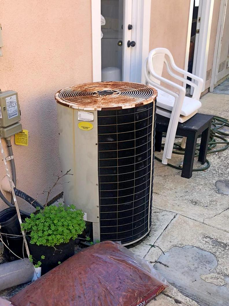 Before and after. System replacement 16seer Preferred Series AC unit. Installation in Rancho Penasquitos 1