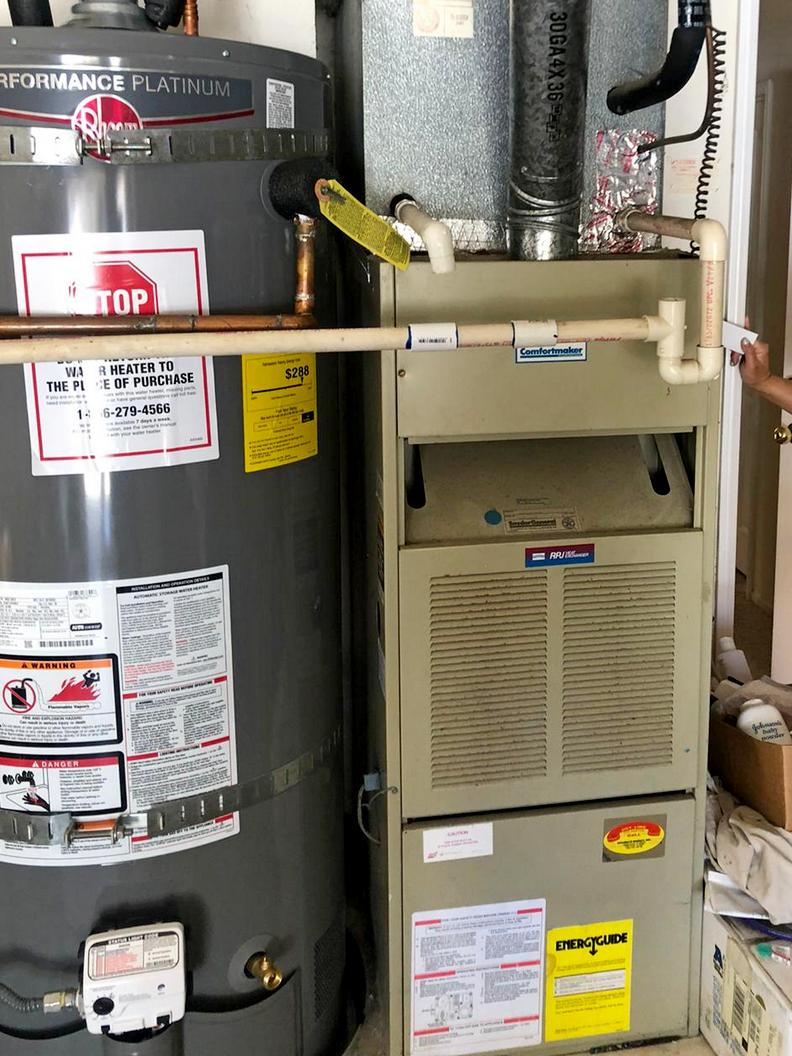 Before and after. System replacement 16seer Preferred Series AC unit. Installation in Rancho Penasquitos