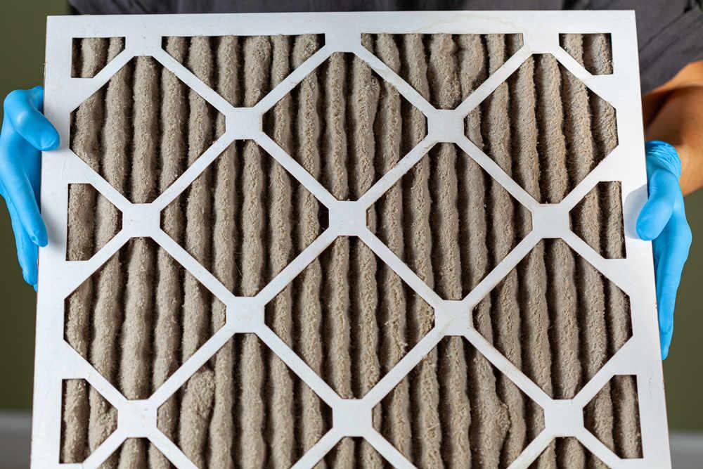 Clogged air filter